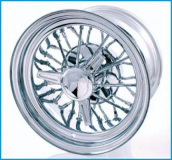 30 SPOKE CHROME WIRE WHEEL by MCLEAN WIRE WHEELS