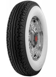 FIRESTONE VINTAGE TIRES  VINTAGE BIAS PLY 19 WHITEWALL TIRE