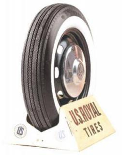 U.S. ROYAL TIRES  VINTAGE 04 WHITEWALL & BLACKWALL BIAS PLY TIRE