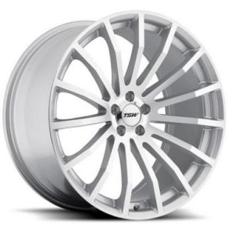 TSW WHEELS  MALLORY 5 SILVER RIM with MIRROR CUT FACE