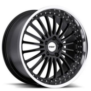 TSW WHEELS  SILVERSTONE GLOSS BLACK RIM with MIRROR CUT LIP
