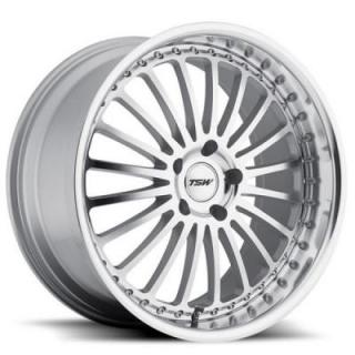 TSW WHEELS - OCT. SALE!  SILVERSTONE SILVER RIM with MIRROR CUT FACE and LIP