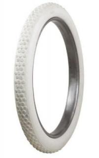 BUTTON TREAD WHITE TIRE by COKER MOTORCYCLE TIRE