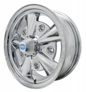 EMPI VINTAGE VW  VINTAGE VW 5-RIB CHROME WHEEL