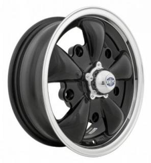 EMPI VINTAGE VW  GT-5 GLOSS BLACK RIM with POLISHED LIP