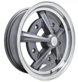 EMPI VINTAGE VW  RAIDER ANTHRACITE RIM with POLISHED LIP