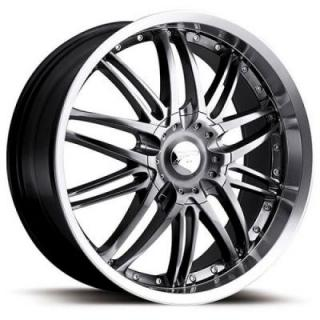 PLATINUM WHEELS  APEX 200 HYPER BLACK RIM with DIAMOND CUT LIP