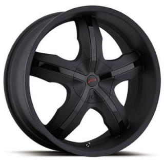PLATINUM WHEELS  WIDOW 211 MATTE BLACK RIM with GLOSS BLACK INSERTS