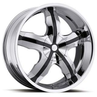 WIDOW 211 CHROME RIM with BLACK INSERTS from PLATINUM WHEELS