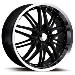 APEX 200 GLOSS BLACK RIM with DIAMOND CUT LIP from PLATINUM WHEELS