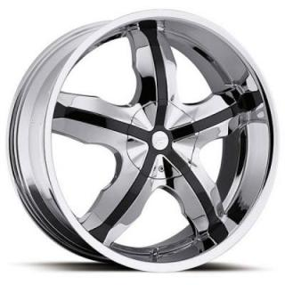 PLATINUM WHEELS  WIDOW 212 CHROME RIM with GLOSS BLACK INSERTS