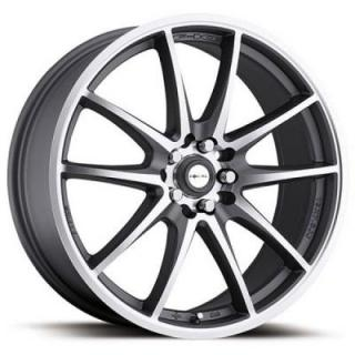 FOCAL WHEELS  F10 177 ANTHRACITE RIM with DIAMOND CUT FACE
