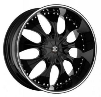 2 CRAVE WHEELS  BLACK DIAMOND N03 BLACK/MACHINED RIM