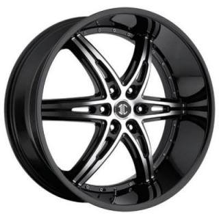 2 CRAVE WHEELS  2 CRAVE N16 BLACK/MACHINED RIM