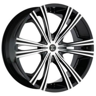 2 CRAVE WHEELS  2 CRAVE N12 BLACK/MACHINED RIM