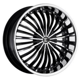 2 CRAVE WHEELS  2 CRAVE N13 BLACK/CHROME LIP RIM