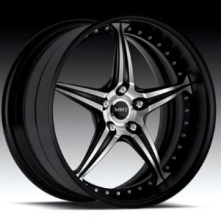 MHT FORGED EDITION  CLIENTI GLOSS BLACK RIM with MACHINED FACE