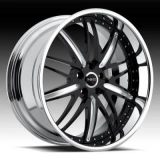MHT FORGED EDITION  CORSICA BLACK/BRUSHED RIM with CHROME LIP