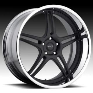 MARK V MATTE BLACK RIM with CHROME LIP by MHT FORGED EDITION