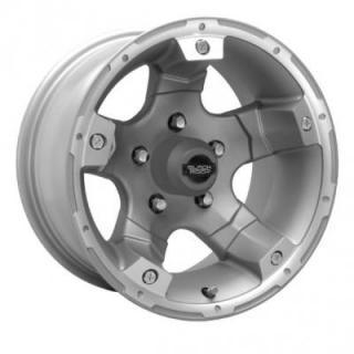 BLACK ROCK WHEELS  900S VIPER SILVER RIM