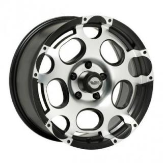 BLACK ROCK WHEELS  906M SCORPION MACHINED RIM
