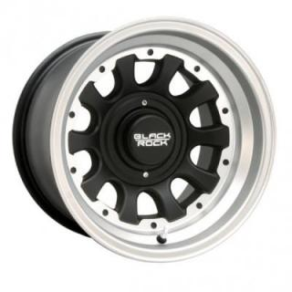 BLACK ROCK WHEELS  909S TYPE D SILVER ALUMINUM RIM with BLACK CENTER