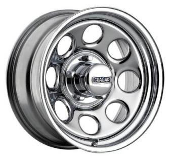 CRAGAR WHEELS  398 SOFT 8 CHROME WHEEL cap additional $14.95
