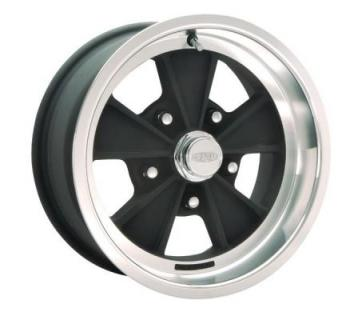 CRAGAR WHEELS  500B ELIMINATOR BLACK MACHINED WHEEL with BLACK SPOKES and MACHINED LIP
