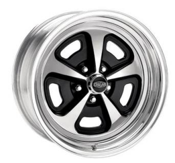 CRAGAR WHEELS  510 MAGNUM ALUMINUM CENTER RIM with STEEL RIM and BLACK ACCENTS