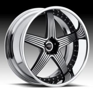 TORRENT CHROME RIM with BLACK ACCENTS by MHT FORGED EDITION