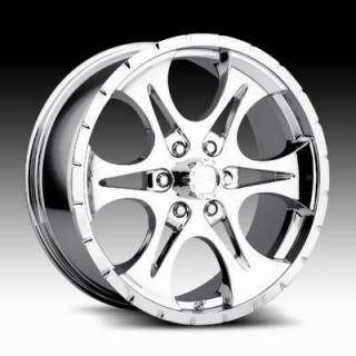 RACELINE WHEELS  876 PREDATOR 6 CHROME RIM