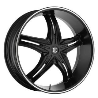 2 CRAVE WHEELS  BLACK DIAMOND N05 BLACK/MACHINED RIM