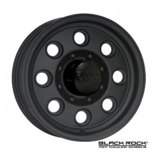 BLACK ROCK WHEELS  908B YUMA TOY HAULER BLACK RIM