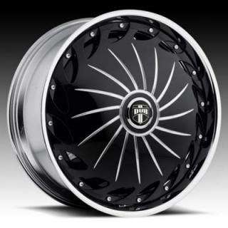 DRAMA S758 BLACK and CHROME RIM by DUB SPINNERS