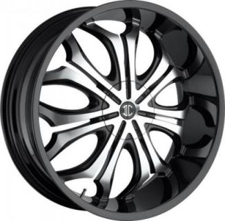 2 CRAVE WHEELS  2 CRAVE N08 BLACK/MACHINED RIM