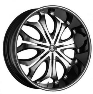 2 CRAVE WHEELS  BLACK DIAMOND N08 BLACK/MACHINED RIM