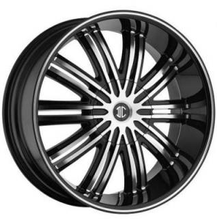 2 CRAVE WHEELS  BLACK DIAMOND N07 BLACK/MACHINED RIM