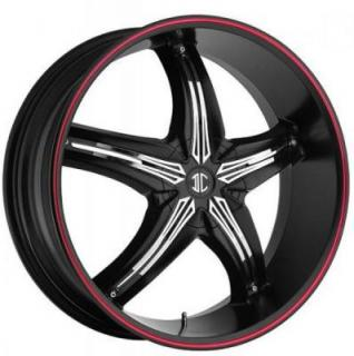2 CRAVE WHEELS  FIERO N05 SATIN BLACK/RED RIM