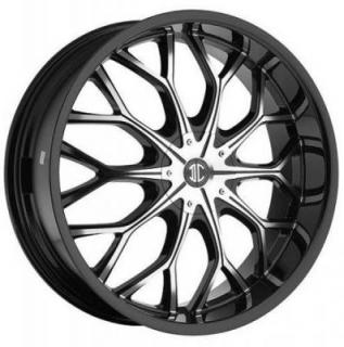 2 CRAVE WHEELS  2 CRAVE N09 BLACK/MACHINED RIM