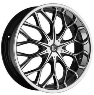 2 CRAVE WHEELS  2 CRAVE N09 BLACK/CHROME LIP RIM
