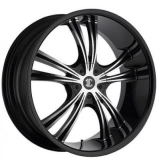 2 CRAVE WHEELS  2 CRAVE N02 BLACK/MACHINED RIM