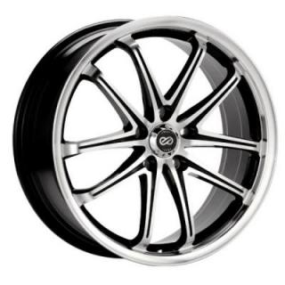 ENKEI WHEELS  G5 BLACK MACHINE WHEEL
