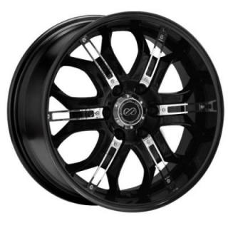 ENKEI WHEELS  GRAB6 BLACK WHEEL WITH CHROME TRIM