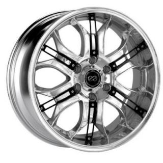 ENKEI WHEELS  GRAB6 CHROME WHEEL WITH BLACK TRIM