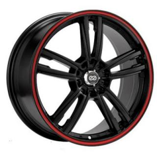 ENKEI WHEELS  KLAMP BLACK WHEEL WITH RED STRIPE