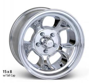 ET WHEELS  FIVE WINDOW HIGH ANGLE POLISHED WHEEL
