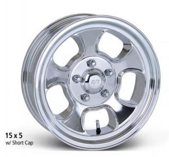ET WHEELS  FIVE WINDOW LOW ANGLE POLISHED WHEEL