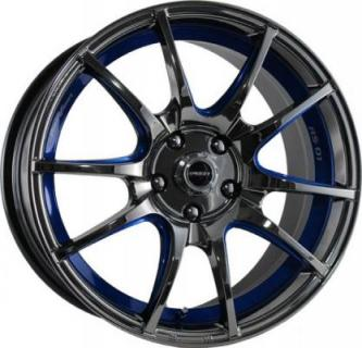 SPEEDY WHEELS  ILLUSION DIAMOND BLACK RIM with BLUE STRIPE