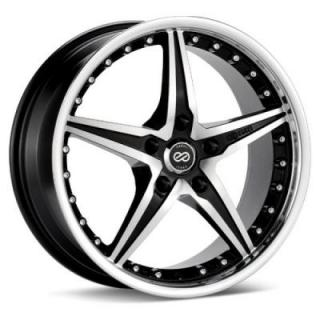 LSR- BLACK MACHINE WHEEL from ENKEI PERFORMANCE SERIES WHEELS