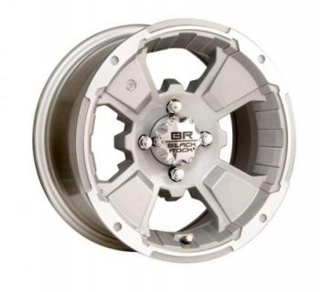 BLACK ROCK WHEELS  110S ATV RIM INTRUDER SILVER RIM